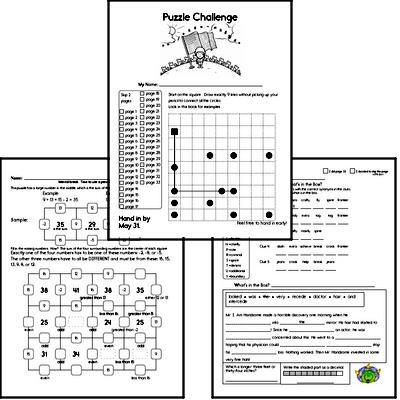 Fourth Grade Puzzles for Kids