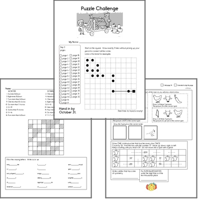 Monthly Puzzle Workbooks
