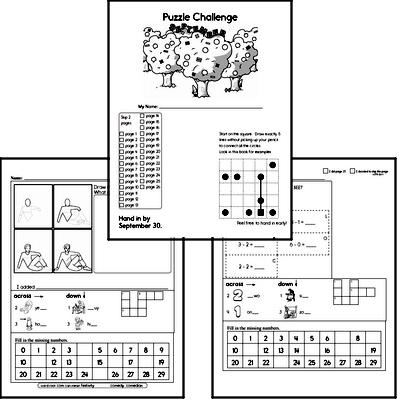 First Grade Puzzles for Kids