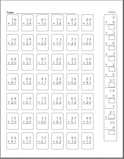 2 Digit Addition - Worksheets, Lessons, and Printables