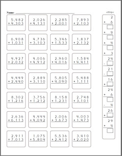 digit addition  worksheets lessons and printables