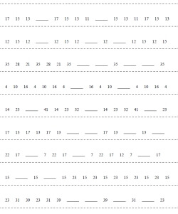 Sequences and Number Pattern Puzzles   edHelper com