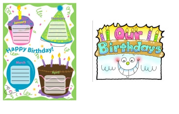 picture relating to Birthday Bulletin Board Ideas Printable identified as Bulletin Board Tips - Bulletin Message boards And Facilities - Concept