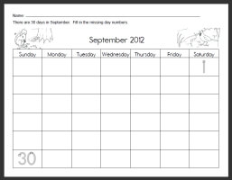 Free Calendar Worksheets   edHelper.com