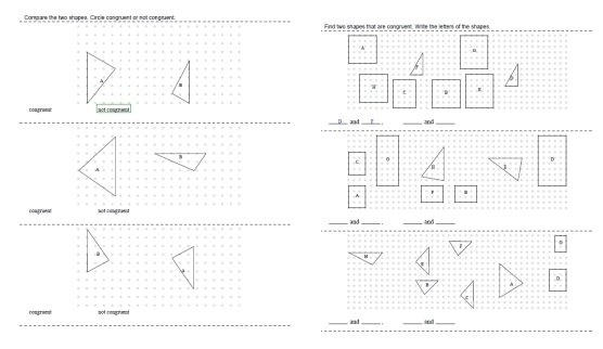 Congruent Shapes and Figures Printables Worksheets and Lessons – Similar and Congruent Figures Worksheet