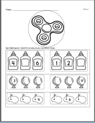 Counting to Nineteen Math Workbook with Fidget Spinner