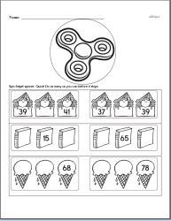 Counting to Ninety-nine Math Workbook with Fidget Spinner