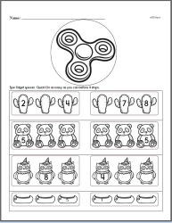 Counting to Nine Math Workbook with Fidget Spinner
