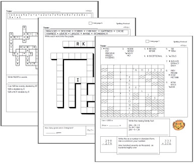 Create Puzzle Workbooks