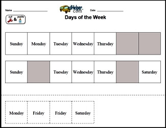 Days of the Week: Activities, Worksheets, Printables, and Lesson Plans