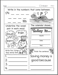 First Grade Worksheets | edHelper.com