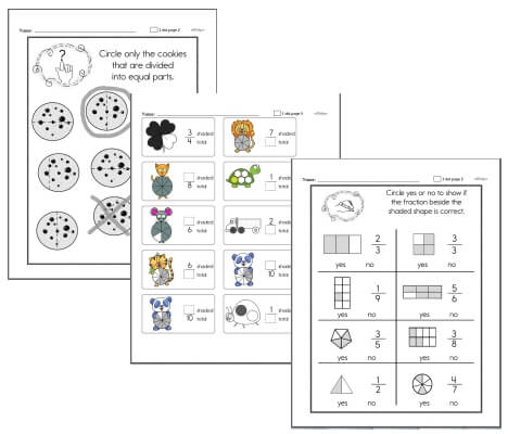 Introduction to Fractions Workbook