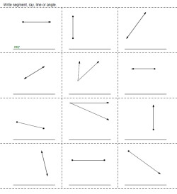 Rays And Angles Printables Worksheets And Lessons