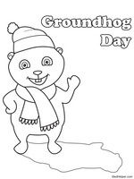 Groundhog Day Glyph Worksheet