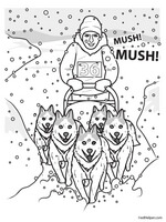 free sled dog coloring pages - photo#15