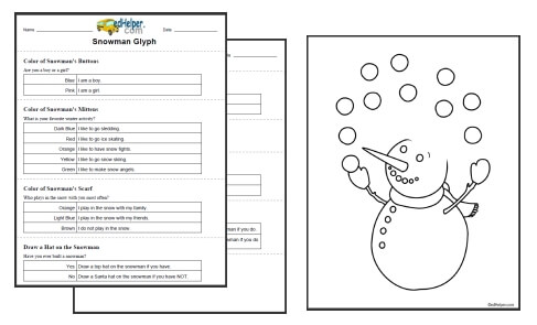 Free Printable Glyphs Worksheets for Kids