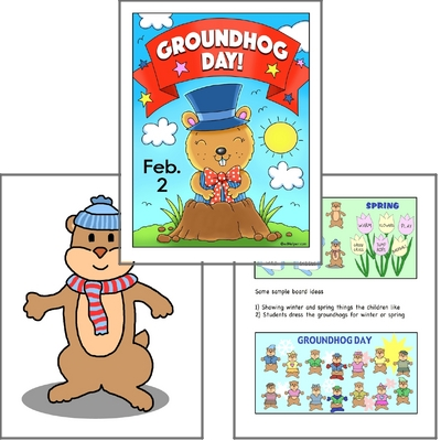 Groundhog Day Poster Pack for Bulletin Boards and Classroom Decorations