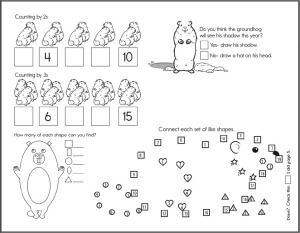 Groundhog Day Hidden Picture Puzzles Worksheets Lessons And