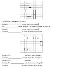 Aw Sound Worksheets Word Th Grade Measurement  Worksheets Lessons And Printables Free Printable Cursive Worksheets with Greater And Less Than Worksheets Pdf Length With Addition And Subtraction Questions Two Problems Per Page  To   Rectangles Sat Vocabulary Worksheet