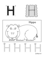 The alphabet the letter h kindergarten resources handwriting uppercase letter h ages 3 practice pages spiritdancerdesigns Gallery