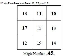 free magic squares worksheets  edhelpercom free magic squares worksheets