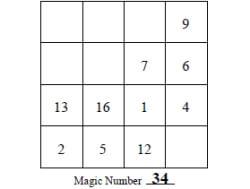 Free Magic Squares Worksheets | edHelper com