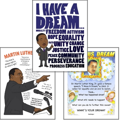 Dr. Martin Luther King, Jr. Poster Pack for Bulletin Boards and Classroom Decorations to Celebrate Martin Luther King Jr. Day