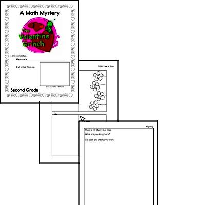 Math Mystery Grinch Printable Book
