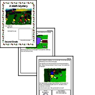 Math Mystery Soccer Stars Printable Book