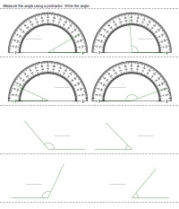 protractor printables worksheets and lessons. Black Bedroom Furniture Sets. Home Design Ideas