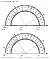 More Challenging Reading The Protractor Multiples Of 10 Degrees Only