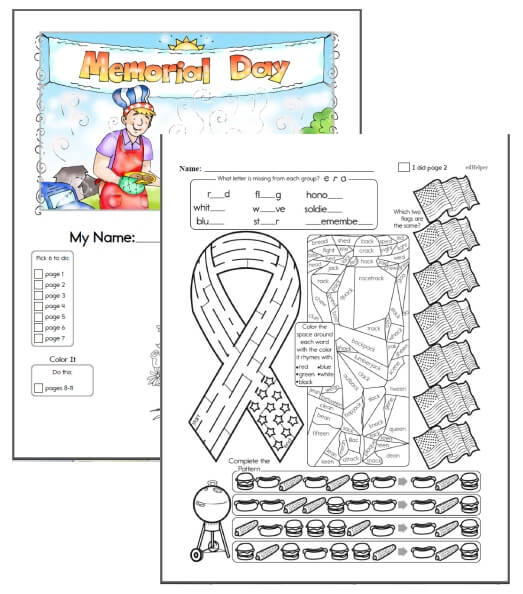 Memorial Day Workbook