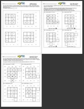 Free Magic Squares Worksheets | edHelper com