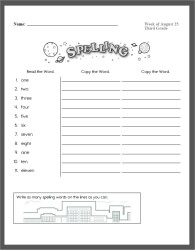 Weekly Spelling Practice Workbooks