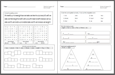Your Spelling Words - Make a spelling puzzle workbook from your spelling words.