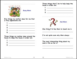 Free Mother S Day Worksheets Edhelper Com