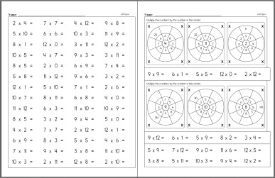 Free Multiplication Worksheets | edHelper.com