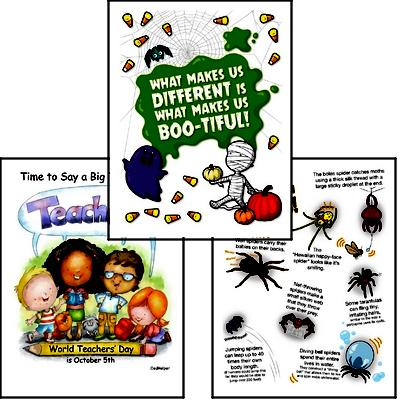 Get your bulletin boards ready with these October posters and ideas to decorate your classroom.