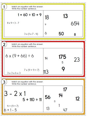 Order of operations homework helper