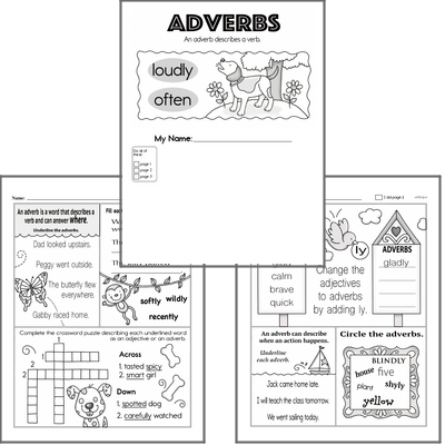 Introduction to Adverbs Workbook
