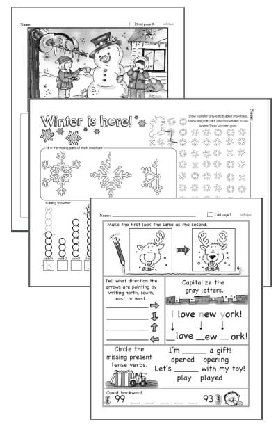 3rd grade Workbooks for December