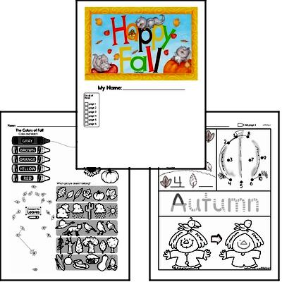 Fall Workbook - Celebrate autumn in the classroom with these fun workbooks that kids will enjoy. Use them for homework, morning work, or classwork. Great mixed review of math, English language arts, spelling, and critical thinking skills that will challenge the most gifted students! Teachers and students love these! Enjoy.