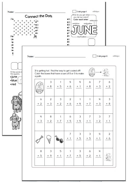 2nd grade Workbooks for June