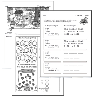 Kindergarten Workbooks for November