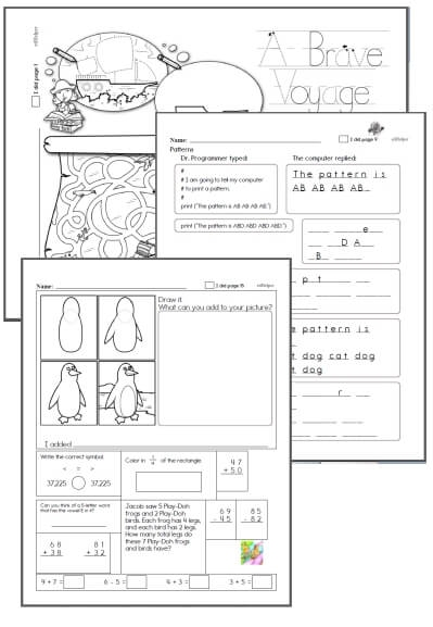 Kindergarten Workbooks for October