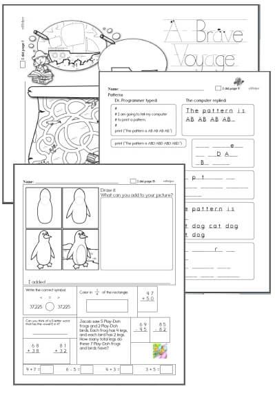 1st grade Workbooks for October