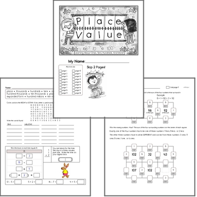 Place Value Math Challenge Workbook