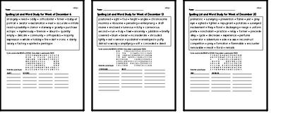 Word Study Challenge Books with Math for December