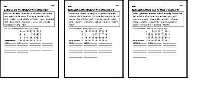 Word Study Challenge Books with Math for November