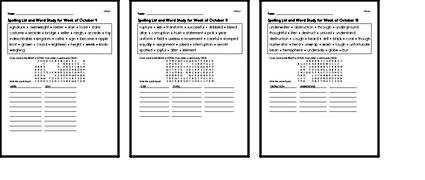 Word Study Challenge Books with Math for October